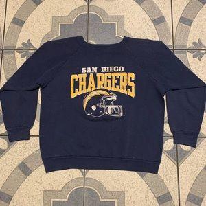 Vintage Champion San Diego Chargers Crewneck Sz L